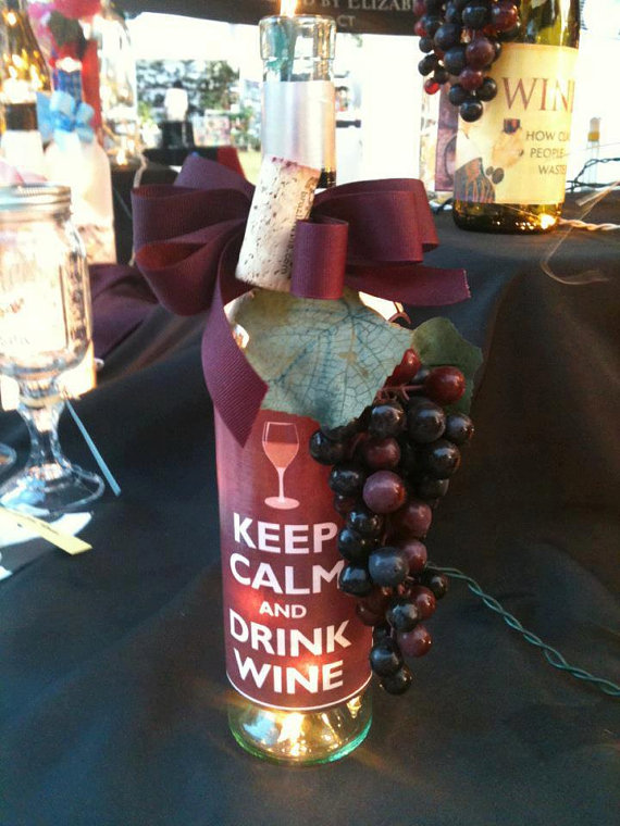 Keep Calm and Drink Wine Lighted Wine Bottle