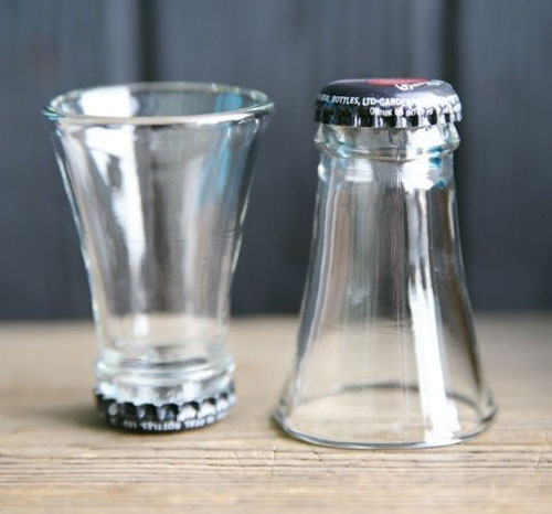 Glass Bottle Shot Glass