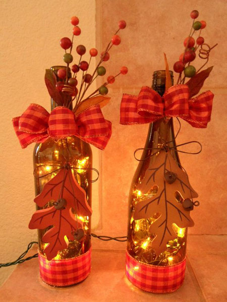 Fall Bottle Decor