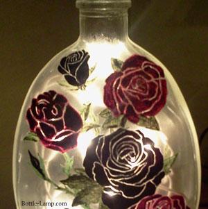 stunning rose petals on glass