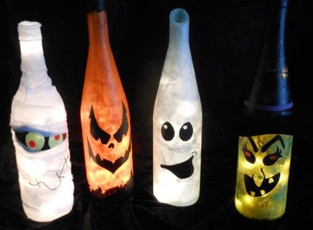 easy lighted bottle ideas
