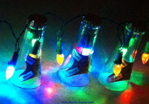 Beer Party String Lights : Beer Bottle Party Light String How To Make A Bottle Lamp