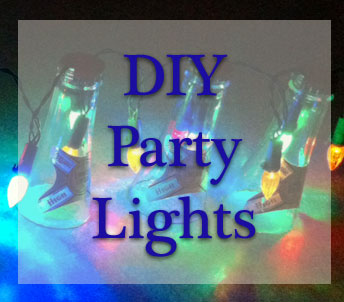 Beer bottle party lights
