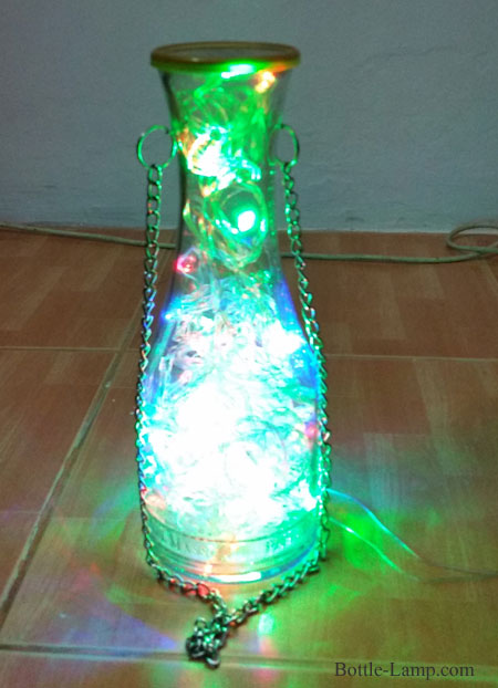 Lighted Wine Bottle