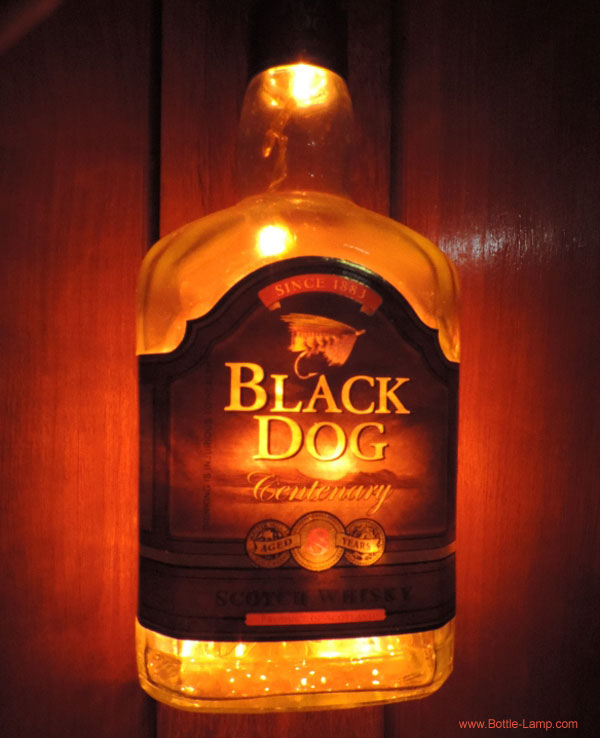 Black Dog bottle with lights