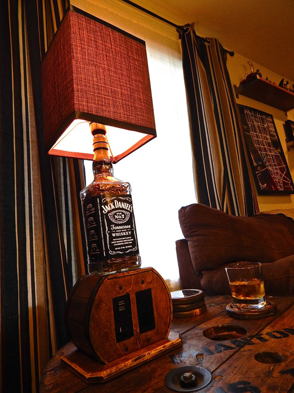 Multi function Jack Daniels Lamp
