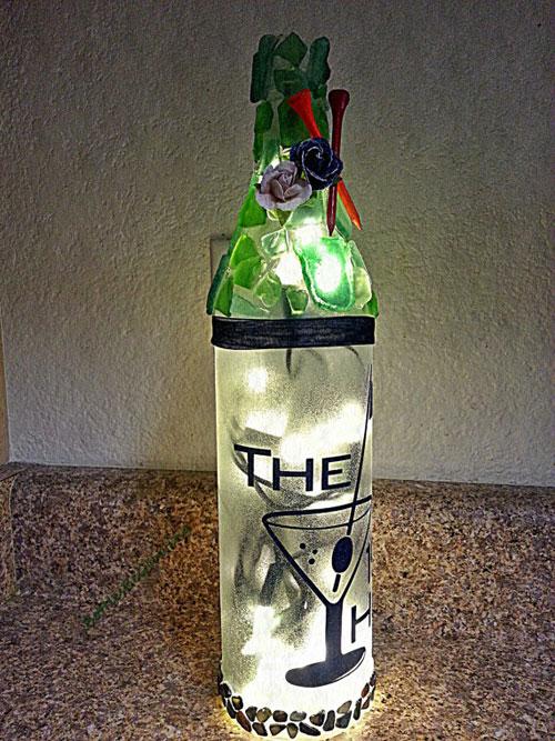 19th Hole Wine Bottle Light