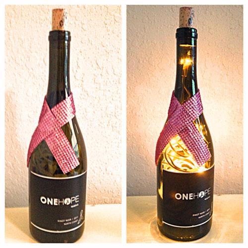 One Hope lighted bottle