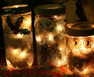 Lace Covered Mason Jar  Potpourri Warmers