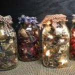 Homemade Potpourri Jars with Lights