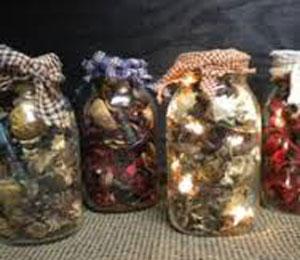 Lighted Mason Jars