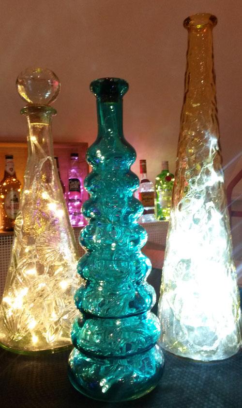 Unique bottles with lights