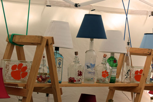 bottle lamp display