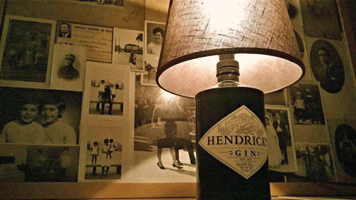 Hendricks Gin Bottle Lamp