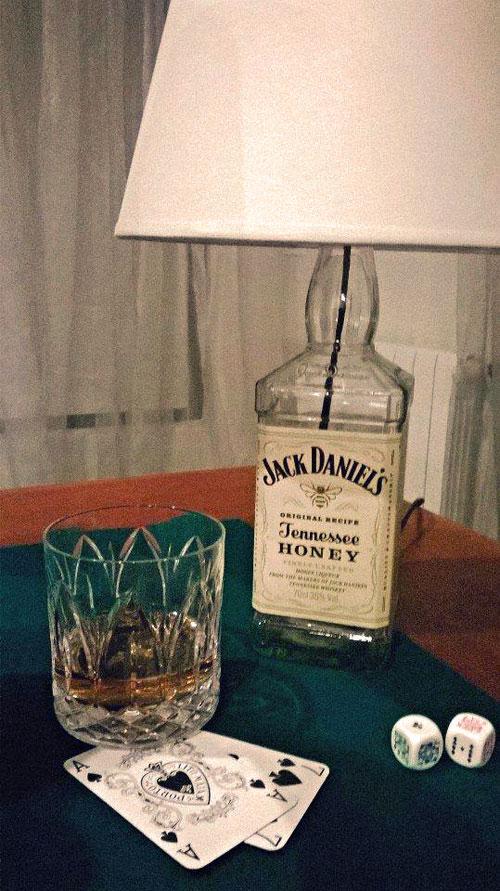 Glamp dry bottle lamp