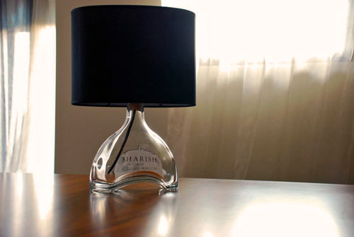 Glamp dry bottle lamp