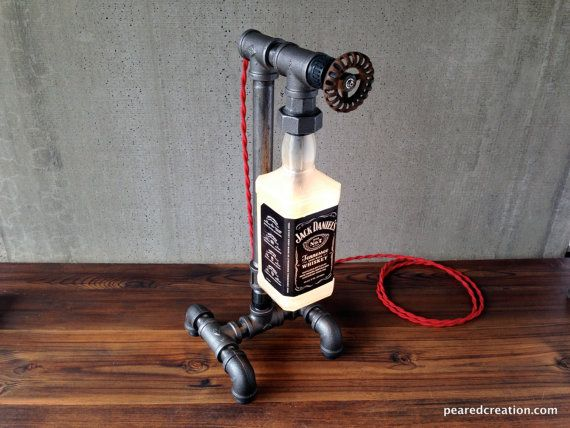 Jack Daniels Steampunk lamp