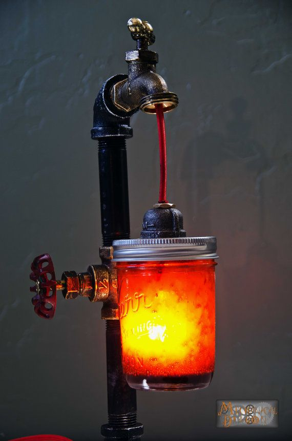 Industrial / Steampunk styled desk lamp