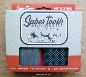 Saber Tooth sanding pads by Bottle Cutting Inc.