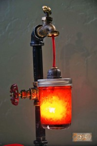 Mechanical Dragon Steampunk Lamp III
