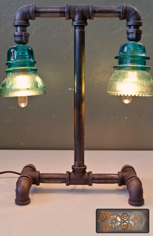 Steampunk Industrial style #lamp