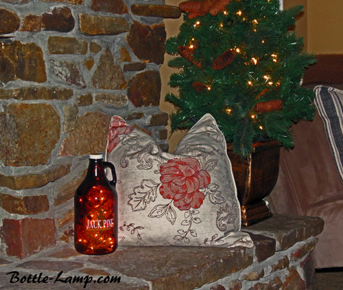 Jack Pine bottle light decor