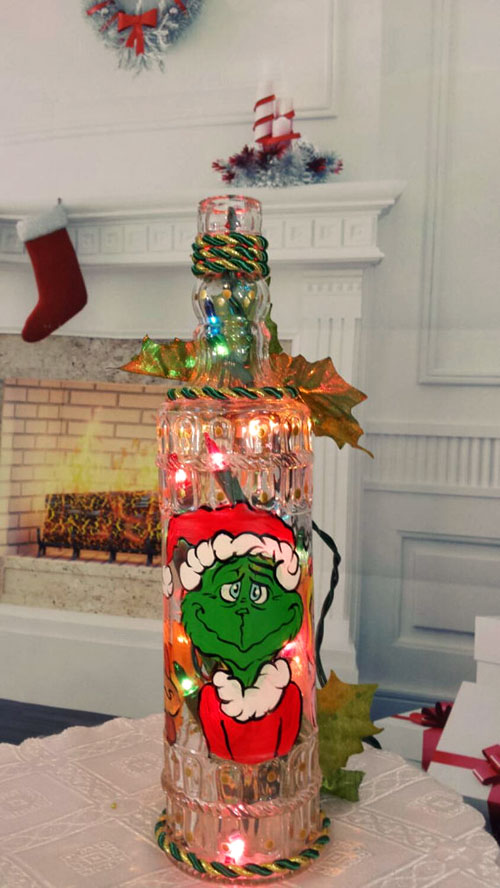 Holiday Bottle Decor