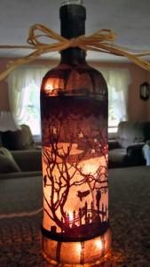 Halloween bottle light