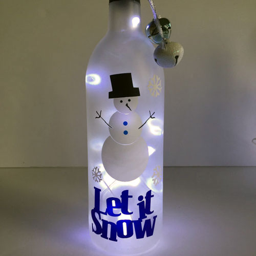 Holiday Bottle Decor on Etsy