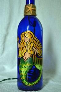 Mermaid bottle light