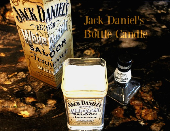 Jack Daniels Bottle Candle