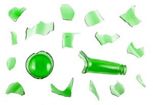 broken bottle for glass crafts