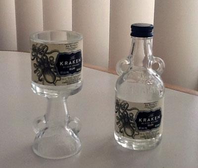 kraken cut bottle