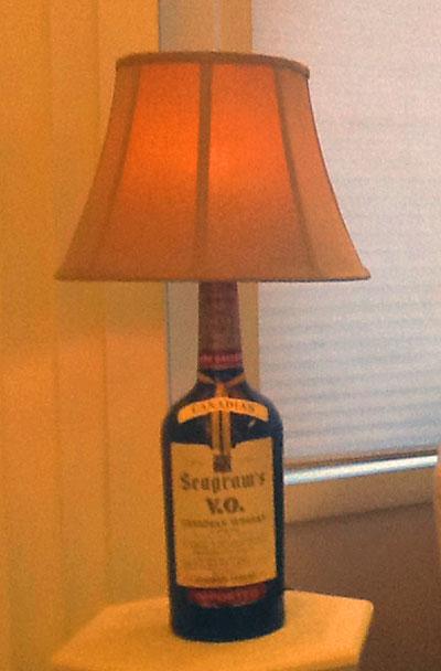 seagrams bottle lamp