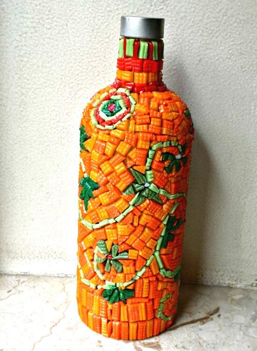Mosaic bottle art