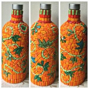 mosaic bottles #bottlecraft #hobby