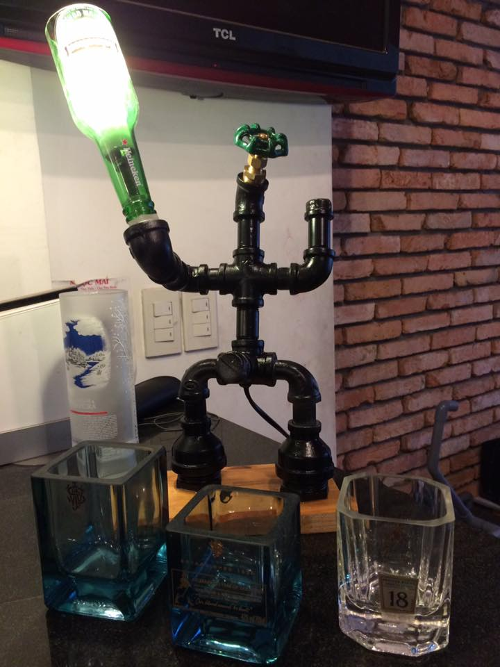 Steampunk Bottle Lamp