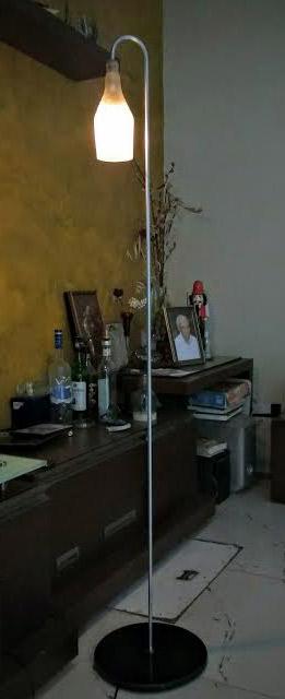 bottle floor lamp