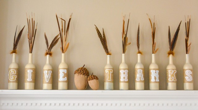 Give Thanks Bottle Decor