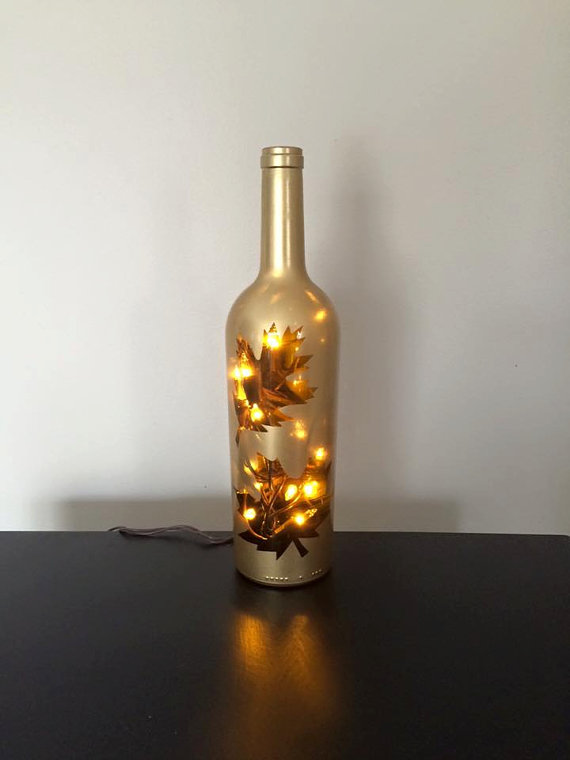 Fall Wine Bottle Decor