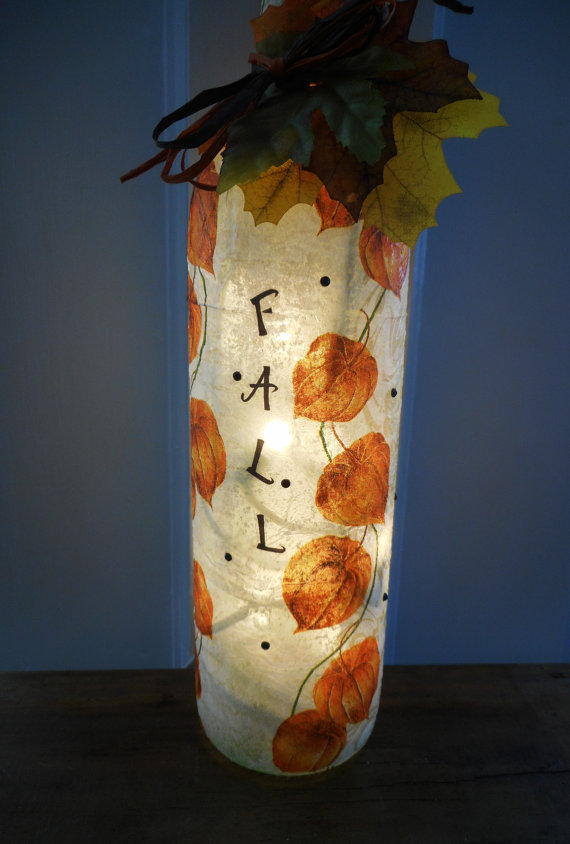 Fall Wine Bottle