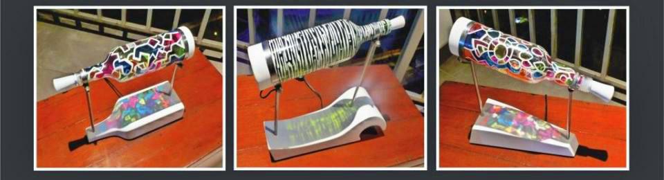 bottle lamp montage