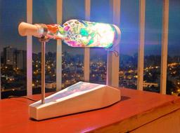 bottle lamp mosaic