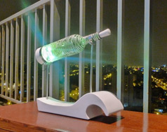 bottle lamp white stripes