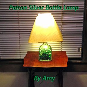 patron bottle lamp by amy