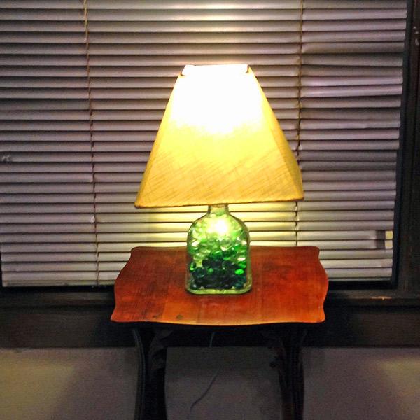 patron silver bottle lamp