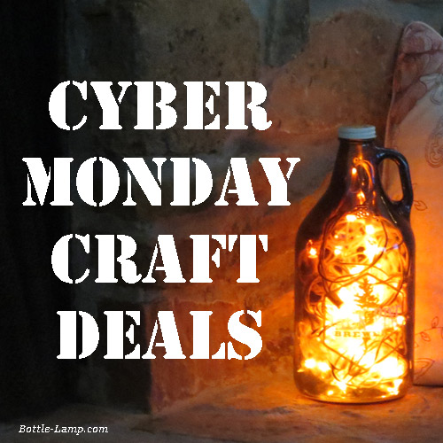 Cyber Monday Craft Deals How To Make A Bottle Lamp