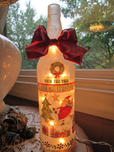 Wine Bottle Craft by Etsy seller songbird58