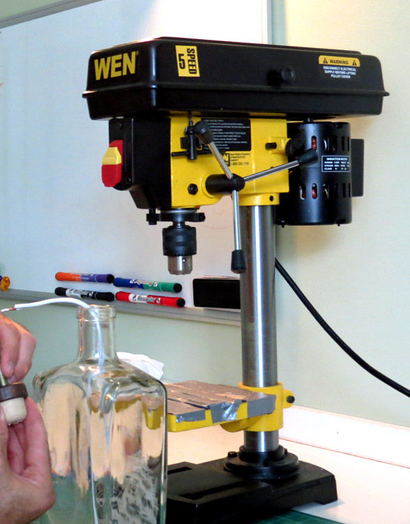 Tips For Drilling Glass Bottles How To Make A Bottle Lamp