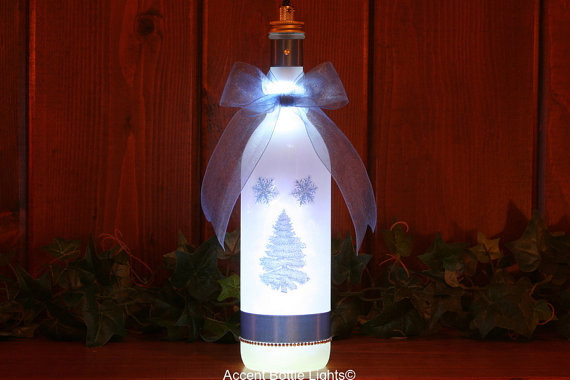 Lighted Holiday bottle by accentbottlelights